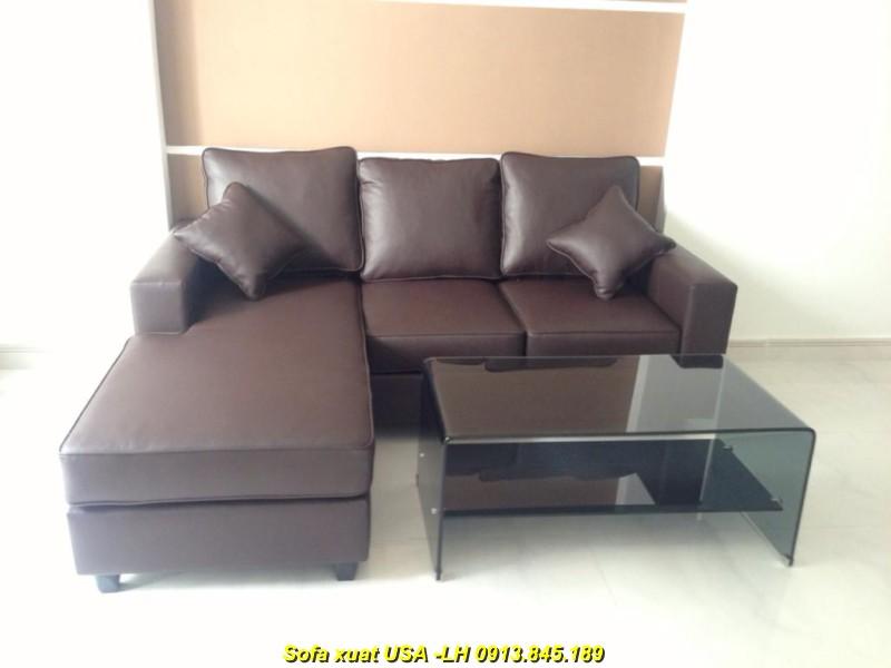 Sofa Xuất khẩu SLL05 -nâu đen