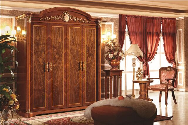 Tủ áo đẹp 510 gỗ sồi nga