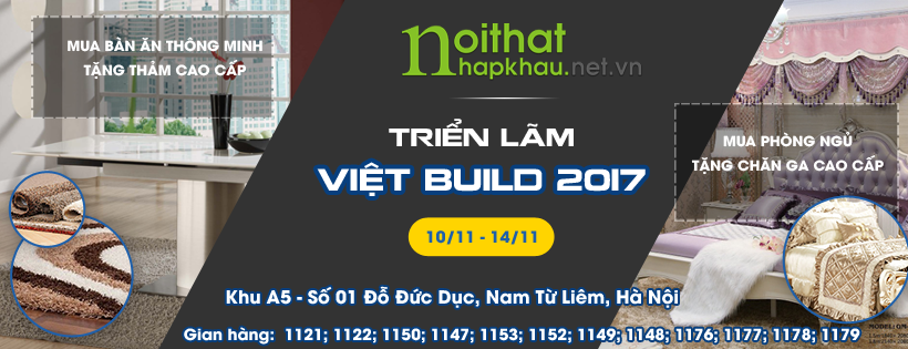 cover fb bàn ăn triển lãm Vietbuild 2017